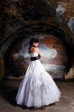 Trash the dress woman Royalty Free Stock Image