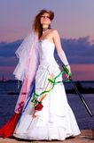 Trash the dress woman Royalty Free Stock Photography