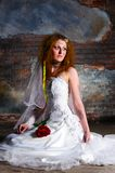Trash the dress woman Royalty Free Stock Photos
