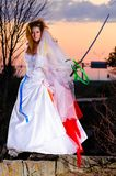Trash the dress woman Royalty Free Stock Photos