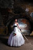 Trash the dress woman Royalty Free Stock Photo