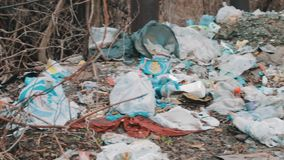Trash on the dump stock footage