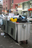 Trash in the dumpsters Royalty Free Stock Image