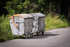 Trash dumpsters Stock Photo
