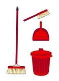 Trash e varreu o vermelho Imagens de Stock Royalty Free