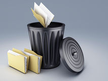 Trash folder Royalty Free Stock Images