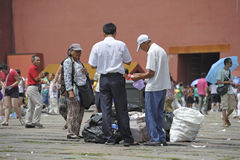 Trash in Forbidden City Stock Images
