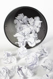 Trash full of paper. Another point of view, clean image as always Royalty Free Stock Photo