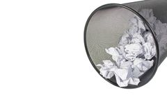 Trash full of paper Royalty Free Stock Image
