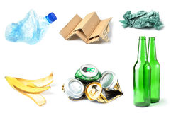 Trash and garbage isolated royalty free stock images