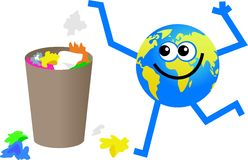 Trash globe Royalty Free Stock Photos