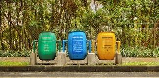 Trash. Green blue yellow royalty free stock image