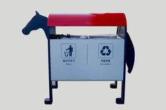 Trash. Horse simulator on a white background royalty free stock photography