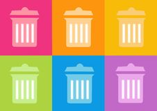 Trash icon. 3d trash icon - computer generated clipart Royalty Free Stock Photo
