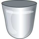 Trash icon. Stylized trash icon or symbol Stock Photo