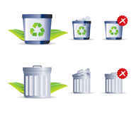Trash Icon. Trash Vector Icon Icon Set 1 Stock Illustration