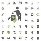 Trash icon. Eco and Alternative Energy vector icon set. Energy source electricity power resource set vector. Trash icon. Eco and Alternative Energy vector icon Royalty Free Stock Photo