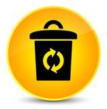 Trash icon elegant yellow round button Stock Image