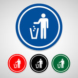 Trash icon great for any use. Vector EPS10. Stock Photo