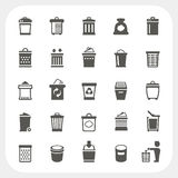 Trash icons set Royalty Free Stock Image