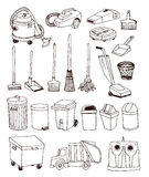 trash icons set, vector illustration Royalty Free Stock Photography