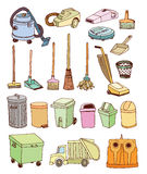 Trash icons set, vector illustration Royalty Free Stock Images