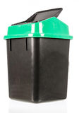 Trash isolated dirty old black bin isolated Stock Photography