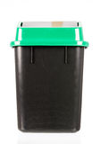 Trash isolated dirty old black bin isolated Stock Image