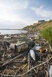 Trash in Italian Sea Royalty Free Stock Images
