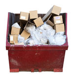 Trash Junk Garbage Can Dumpster Isolated White Royalty Free Stock Photography