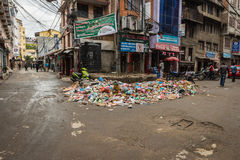 Trash in Kathmandu Royalty Free Stock Photography