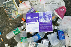 Trash from Live 8 Philadelphia Concert to promote African causes Stock Images