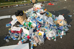Trash from Live 8 Philadelphia Concert to promote African causes Royalty Free Stock Photography