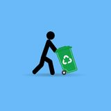 Trash Man For Cleaner Stock Photos