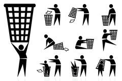 Trash-man, icons Royalty Free Stock Image