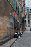 Trash in Manhattan Alley, Urban Decay Royalty Free Stock Image