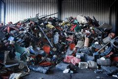 Trash piles Stock Images