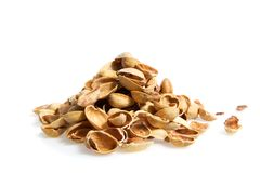 Trash of pistachios Stock Photography