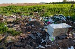 Trash Polluting Environment Royalty Free Stock Photo