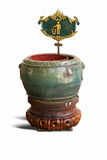 Trash pot antique Royalty Free Stock Photography