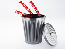 Trash problems Stock Image
