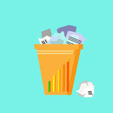 Trash Recycle Bin Garbage Flat Vector Royalty Free Stock Photo