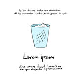 Trash Recycle Bin Hand Draw Logo Color Icon Stock Photo
