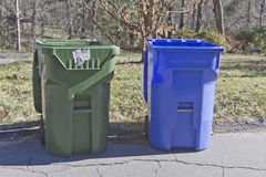 Trash and Recycle Bins Royalty Free Stock Image
