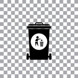 Trash recycle garbage bin. Vector trash recycle garbage bin Royalty Free Stock Photography