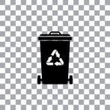Trash recycle garbage bin Stock Image