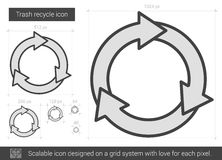 Trash recycle line icon. Royalty Free Stock Photography