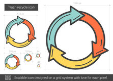 Trash recycle line icon. Stock Photography