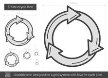 Trash recycle line icon. Stock Images