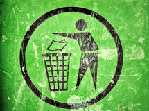 Trash sign Royalty Free Stock Photo